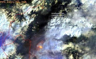 卫星监测图像显示俄1天减少100余处着火点(图)