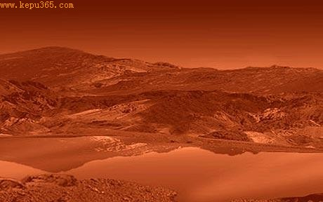 Artist's impression of Titan's surface: Titan: Nasa scientists find evidence 'showing alien life on Saturn's moon'