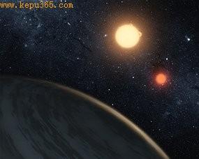 气态巨行星Kepler-16b,体积与土星相当,所绕轨道距离母星1.05亿公里