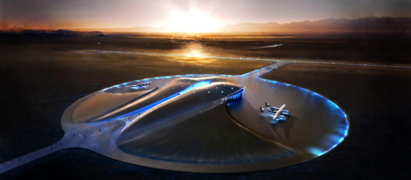 美国航天港位于美国新墨西哥州南部,是一座带有未来派色彩的太空发射场,建有一个圆顶形太空运行中心。